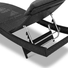 1 x Rangali Wicker Outdoor Sun Lounger - Poly Rattan (2 colours)