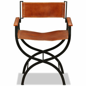 Chad Leather Fold Chair