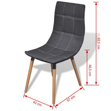 4 x Haven Fabric Dining Chairs - (2 Colours)