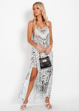 Lost Lotus Chiffon Maxi Dress - Zimbabwe