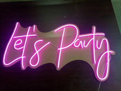 Let's Party Neon Sign Light