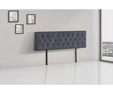 Eve Linen Headboard - Charcoal (3 Sizes)