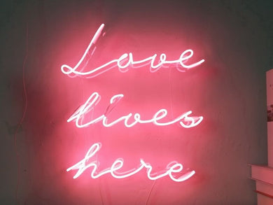 Love Lives Here Neon Light
