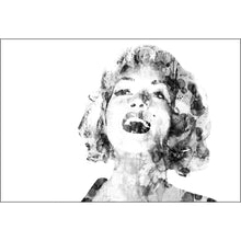 Marilyn Abstract Hair Canvas B & W (4 Sizes)