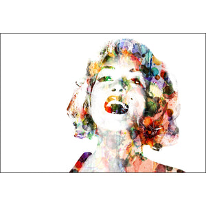 Marilyn Abstract Hair Canvas (4 Sizes)