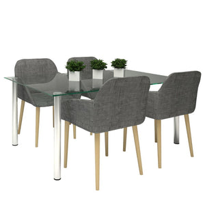 4 x Zara Fabric Dining Chairs
