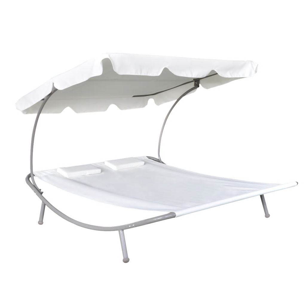 Deluxe Blanc Outdoor Double Lounger