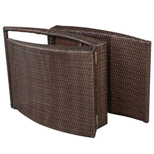 Corfu Single Foldable Sun Lounger - Brown Poly Rattan