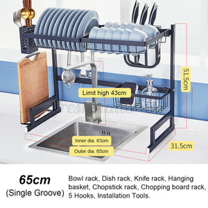 Vortech Double Stainless Steel Drying Rack (single & double sink sizes)