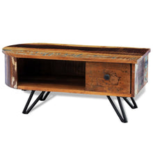 Hemy Reclaimed Solid Wood Coffee Table with Iron Pin Legs