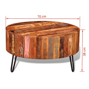 Axel & Rose Reclaimed Solid Wood Round Coffee Table