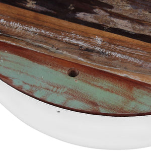 Set of 2 Marci Solid Reclaimed Wood Bowl Coffee Tables