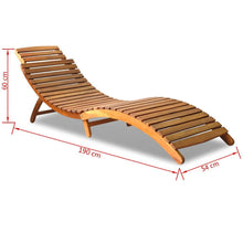 Milan Foldable Hardwood Sun Lounger