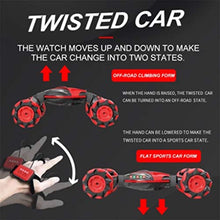Twister 360 Stunt Car with Sensor Hand Gesture Watch + Remote Control + 2 x Battery Packs (2 Colours)