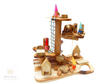 Wooden Gnome House Play Set