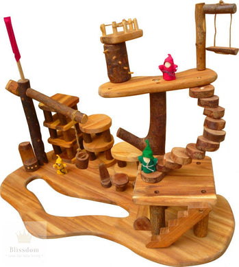Wooden Tree House Complex Set