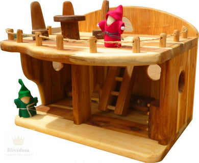 Medium Wooden Dollhouse Set