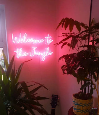 Welcome to the Jungle Neon Sign