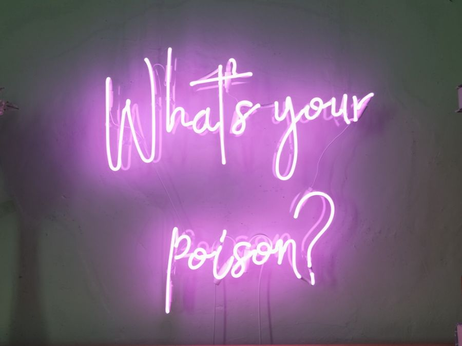 What's Your Poison Neon Sign