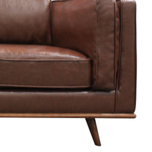 Noah 2 Seater Sofa - Brown Bi-cast Leather