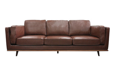 Noah 3 Seater Sofa - Brown Bi-cast Leather