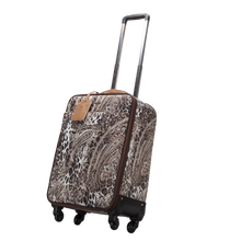 Vera May Broome Leopard Trolley Travel Bag