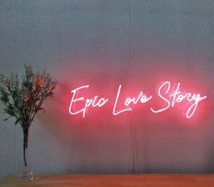 Epic Love Story Neon Sign
