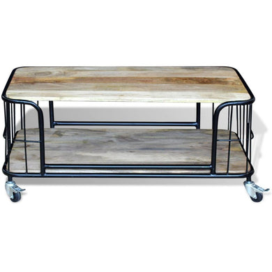 Bente Solid Wood Coffee Table - 100cm