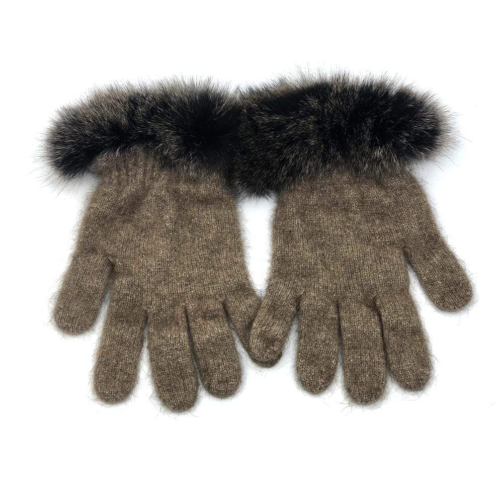 Premium Possum and Merino Wool  - Fur Trim Gloves