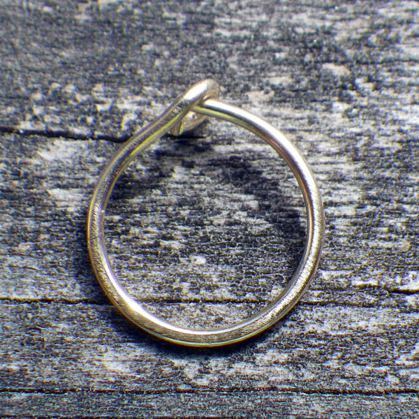 Gold nose ring / 14k gold nose ring / gold nose hoop / yellow gold nose ring / gift for her / jewelry sale / boho nose ring / nose piercing