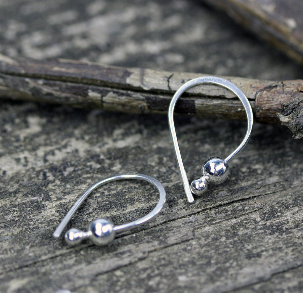 Tiny silver earrings / dainty earrings / gift for her / silver dangle earrings / tiny earrings / jewelry sale / small silver hoops