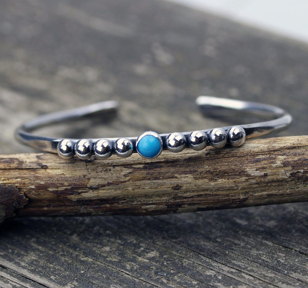 Turquoise cuff bracelet / Sleeping beauty turquoise bracelet / gift for her / jewelry sale / sterling silver cuff bracelet / boho cuff