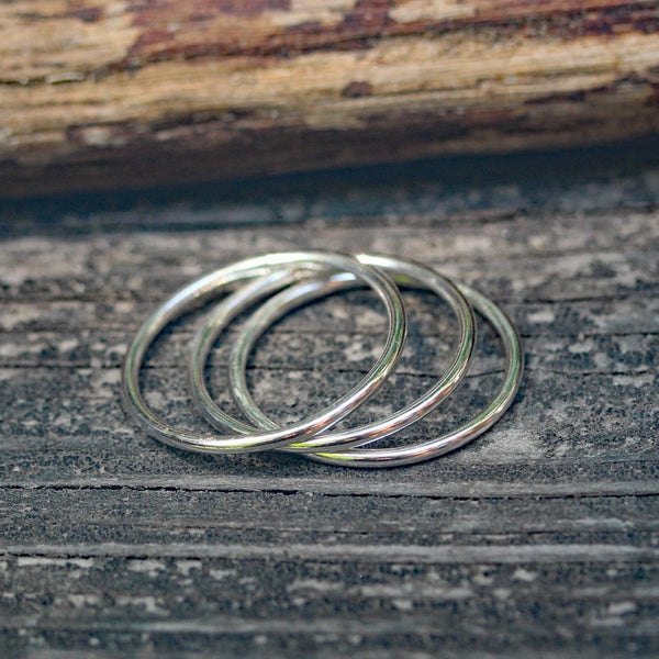 Silver stacking bands / plain silver band / sterling silver rings / gift for her / jewelry sale / simple silver band / stackable rings