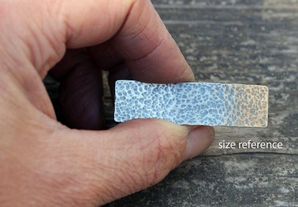 Hammered sterling silver barrette / SMALL silver barrette / simple barrette / gift for her / French barrette / bangs barrette / tiny