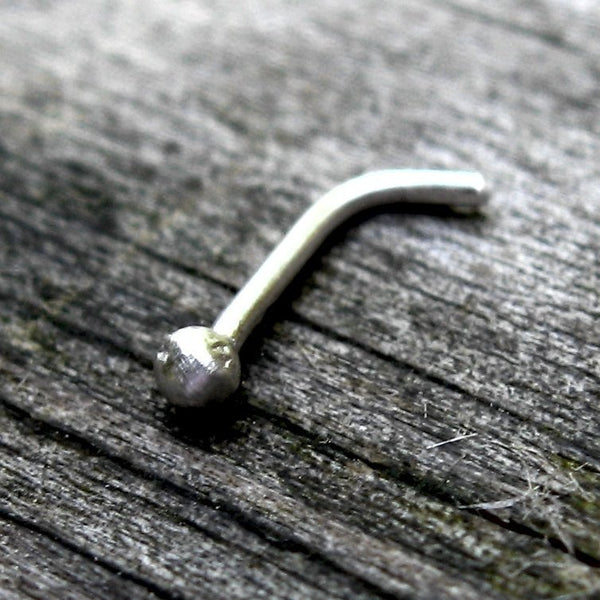 Sterling silver nose stud / tiny nose stud / jewelry sale / 20 gauge nose stud / simple nose stud / silver nose ring / 2mm nose stud