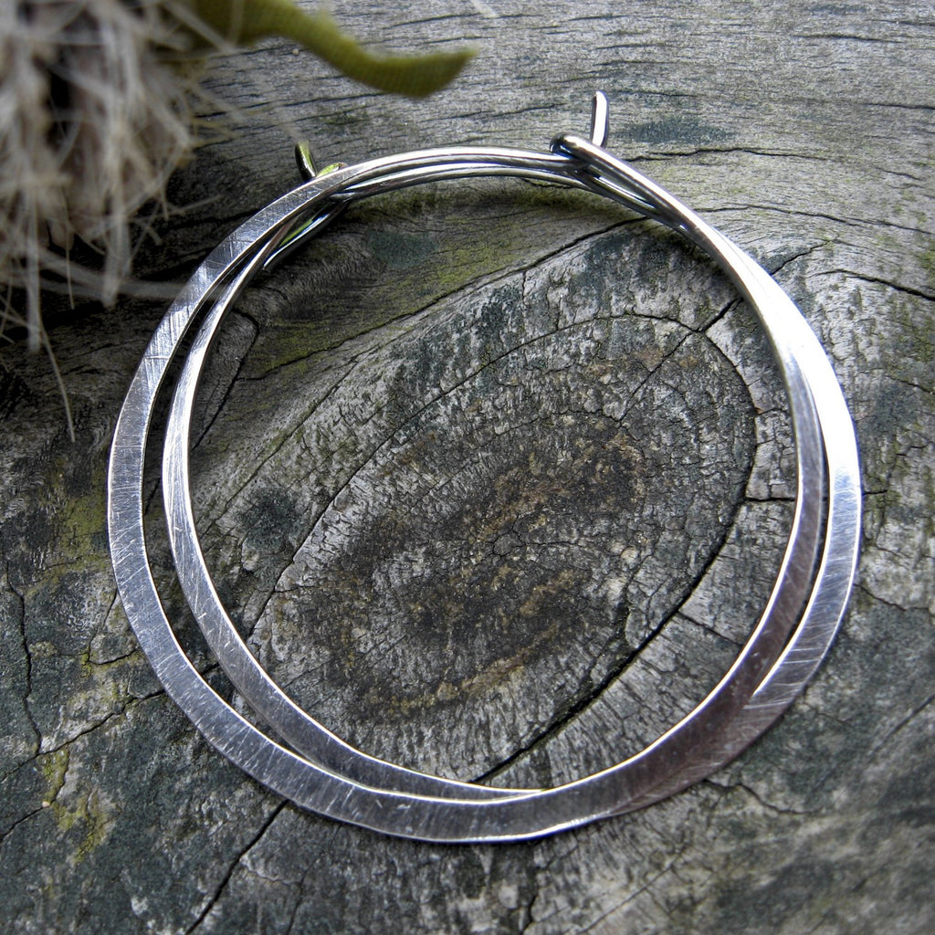 Sterling silver hoop earrings / boho hoops / basic hoops / gift for her / jewelry sale / minimalist earrings / sterling silver earrings