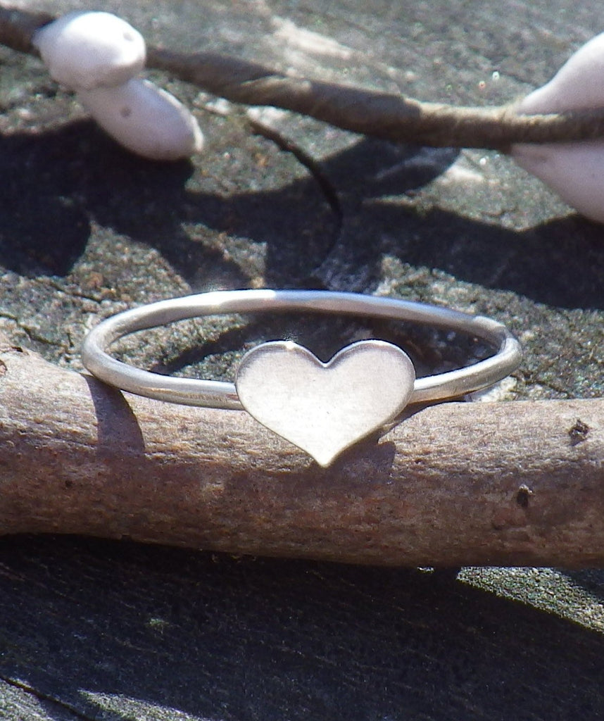 Heart ring / sterling silver heart ring / tiny heart ring / silver ring / bridesmaid gift / heart jewelry / gift for her / jewelry sale