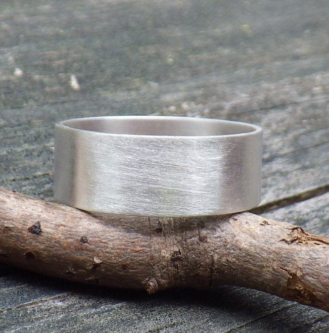 Men's Ring / sterling silver band / men's band / gift for him / rushed silver ring / man's wedding band / rugged ring band / jewelry sale
