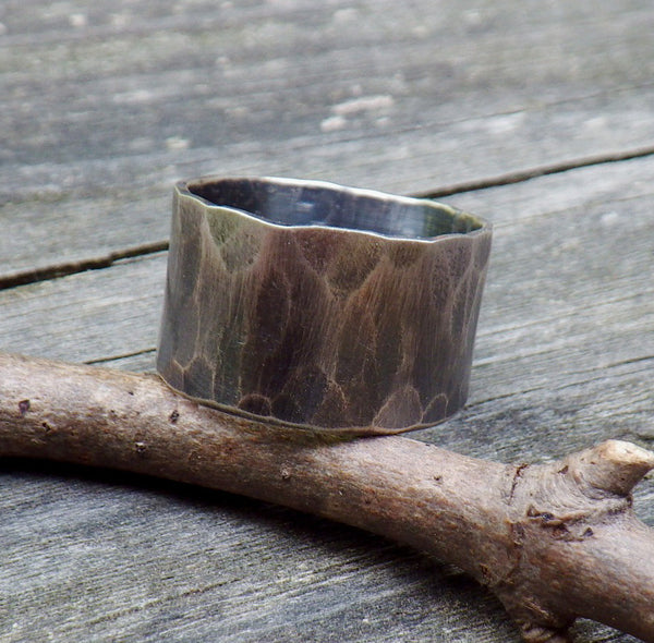 Men's Ring / sterling silver band / men's band / gift for him / rustic men's ring / man's wedding band / rugged ring band / jewelry sale