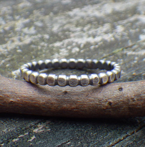 Beaded band / beaded ring / silver beaded band / gift for her / sterling silver ring / dainty ring / silver band / thin band / jewelry sale