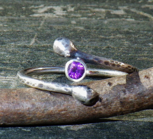 Amethyst branch ring / sterling silver branch ring / gemstone ring / gift for her / jewelry sale / birthstone ring / February birthstone