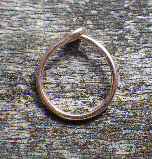 Rose gold nose ring / 14k rose gold / pink gold nose ring / gift for her / jewelry sale / rose gold jewelry / 14k gold body jewelry