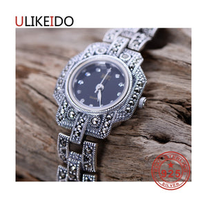 100% Pure 925 Sterling Silver Watch Men Fashion Hand Chain For Women Thai Silver Jewelry Charm Bracelet Homme 1518