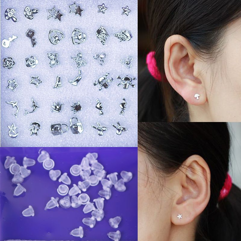 18 Pairs Mix Silver Sterling Plated Plastic Earrings Simple Designs Bohemia Animal Earrings Stud Earrings Set For Women #59199