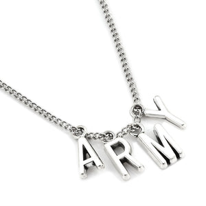 2017 New Fashion BTS Jimin Necklace Bangtan Boys ARMY A.R.M.Y Pendant KOOK JIMIN V SUGA Charms Jewelry Best Gift
