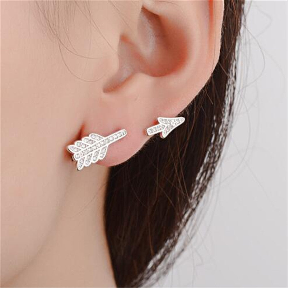 2017 Personalized New Fashion Earrings Simple Arrow Stud Earrings Brincos Jewelry Only 1 PCS Korean Small Earing Mariage Gifts