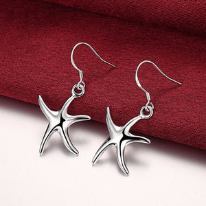 2018 New Arrival Fashion 925 Sterling Silver Ladies Star Drop Earrings Wedding Gift Jewelry Women
