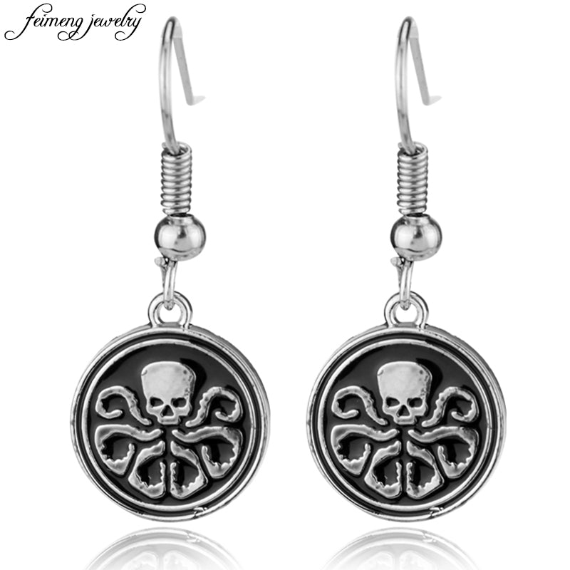 Agents Of S.H.I.E.L.D Hail Hydra Logo Earrings Marvel The Avengers Drop Earrings For Women Fashion Jewelry Accessories