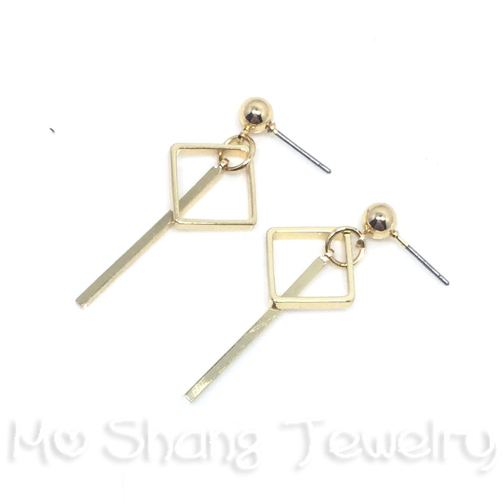 Anti Allergy Steel Needle Dangle Earring Gold Color Statement Earrings Geometric Earrings Holid Earring Jewelry for Girls