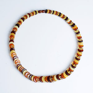 Authentic Baltic Sea Natural Amber Necklace Boulder Necklace Multi-Necklace Origin Europe Multicolor Mixing